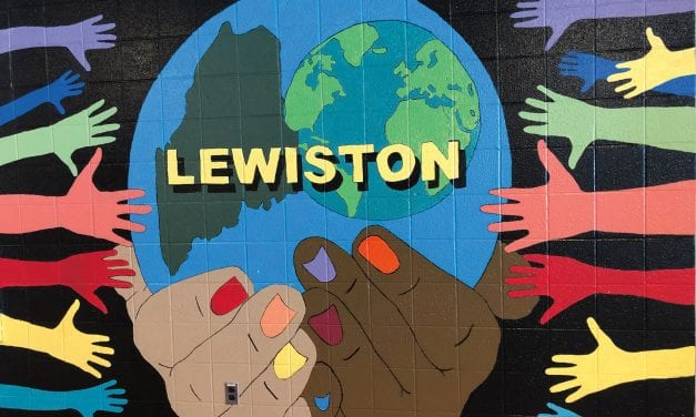Lewiston Students Enliven Walls of High School