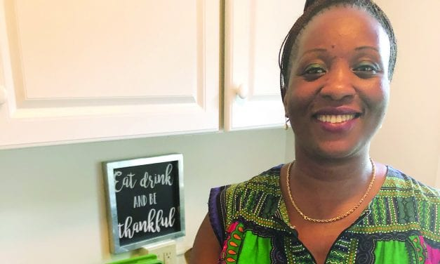 Cooking with Nadine Pembele  |  Fumbwa, a popular Congolese stew made with foraged greens