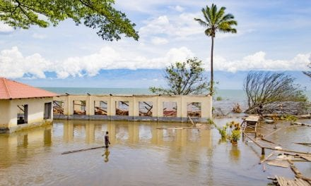 Rising from its bed, Lake Tanganyika displaces families in Burundi