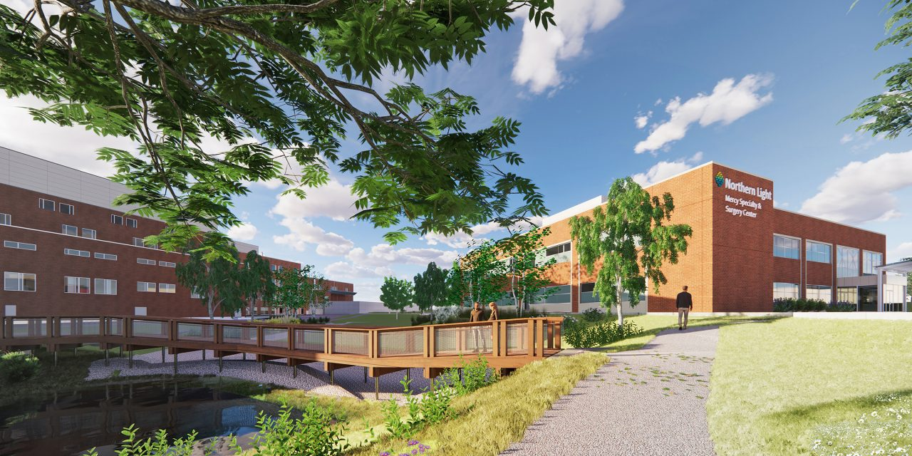 An expanded healthcare campus on Fore River